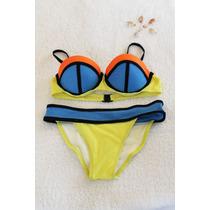 Bikinis Neopreno Tricolor Tallas S M L