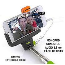 Monopod Celular Mango Automatico Audio 3,5 Mm Iphone Galaxy