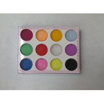 Set De 12 Polvo Acrilicos De Diferentes Colores
