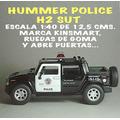 Hummer Pick-up Policial Metal-plástico 12,5 Cm. Nueva S/caja