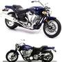 Moto Yamaha Road Star Warrior 2002 1/18 De 12,5 Cm. Nueva Ok