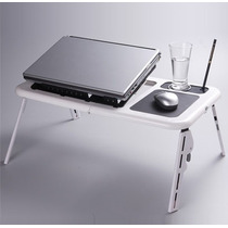 Mesa Para Notebook O Netbook Con Patas Y Ventilador, E-table