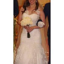 Vestido Novia Precioso Strapless Con Bolero Tul Talla 36/38