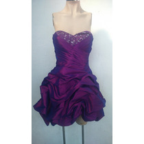 Vestido Fiesta Strapless Cinderella Divine Talla L Violeta