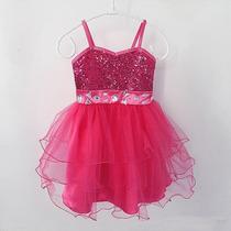 Vestido De Fiesta Rosa Tipo Tutu Talla 18m A 6 Años