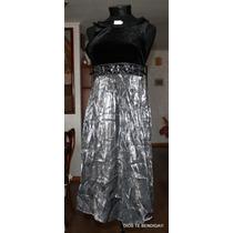 Vestido Noche Metalico Niña T14