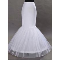 Falso Para Vestido De Novia Sirena, Con Tul Y Varilla