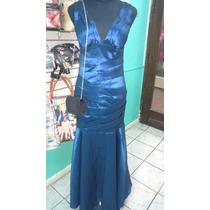 Vestido De Fiesta Color Azul Sexy Y Sentador