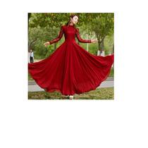 Precioso Vestido Largo Fiesta, Gasa Y Encaje, Rojo, Único.
