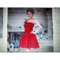 Hermoso Vestido De Graduacion O Coctel Corto Color Rojo