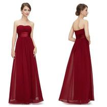 Vestido De Fiesta Strapless Rojo Italiano Nuevo Talla Xl