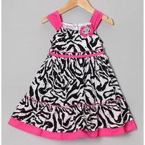 Vestido Niña Younghearts Usa Animal Print Talla 3,4,5 Y 6