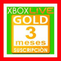 Xbox Live Gold 3 Meses Membresia Entrega Inmediata Oferta !