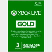 Xbox Live Gold 3 Meses Xbox 360/one Chile Y Resto Del Mundo