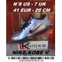 Nike Kobe V N° 8 Us - 7 Uk - 41 Eur - 26 Cm