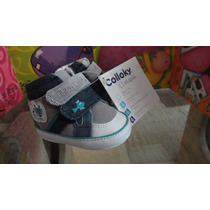 Zapatilla Bebe 2 Velcro Denim Calloky N°15 Niño (nuevos)
