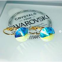 075df5062463 Aros Cristal Swarovski Rivoli Bañados En Oro 18k -variedades