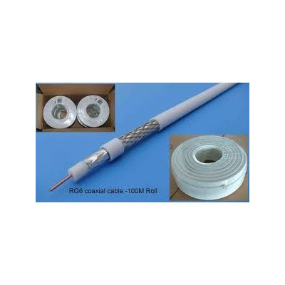 Cable Coaxial Rg6 20 Mts Con Conector Belden Made In