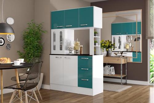 Mueble cocina americana antonia verde ikean ikean for Comedores en franklin
